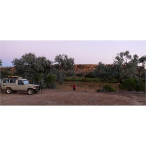 Our camp at Hunters Gorge
