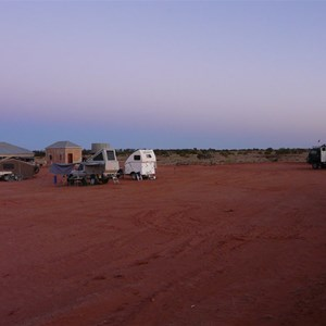 Camped by the shearers' quarters at Pine View Station
