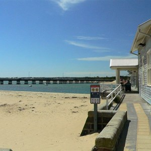 Barwon Heads - boathouse and bridge