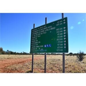 Signpost at Cameron Corner road junction