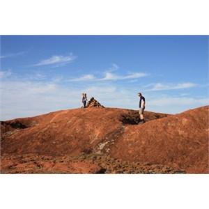 Cairns atop Elachbutting Rock