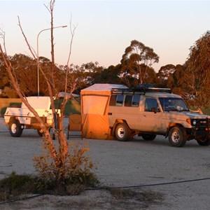 At Woomera Caravan Park