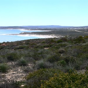 View towards Kalbarri from Red Bluff lookout