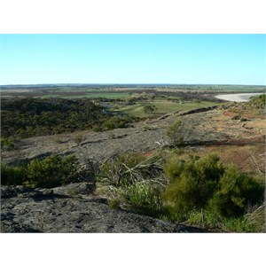 Part of the Kulin bush racecourse seen from the top of Jilakin Rock