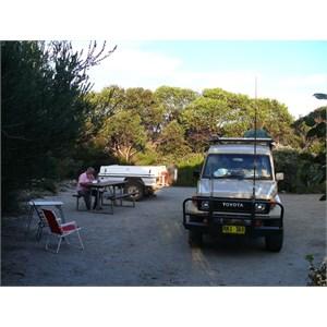 Camp at Pt. Ann