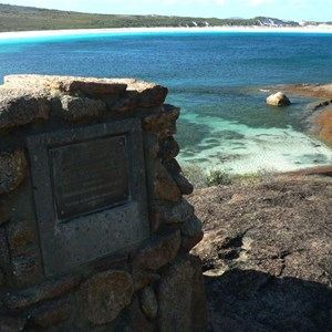 Commemorative Plaque at Lucky Bay