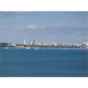 A view of Darwin from East Point