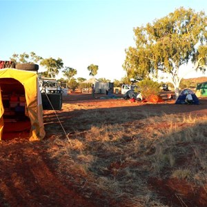 A small part of the Batton Hill camp