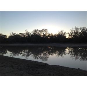 Ourimperee Waterhole on sunset
