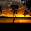 Sunset over Leslie Dam, Qld