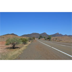 Approaching Flinders Ranges, South Australia