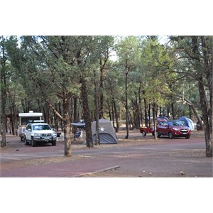 Our campsite in Wilpena Pound Resort Campgrount