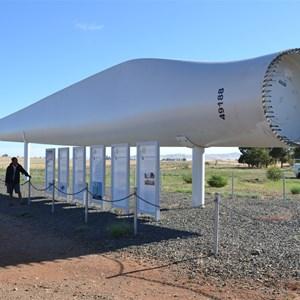One of blades powering wind turbines.