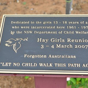 Plaque at Hay Gaol says it all - too late!