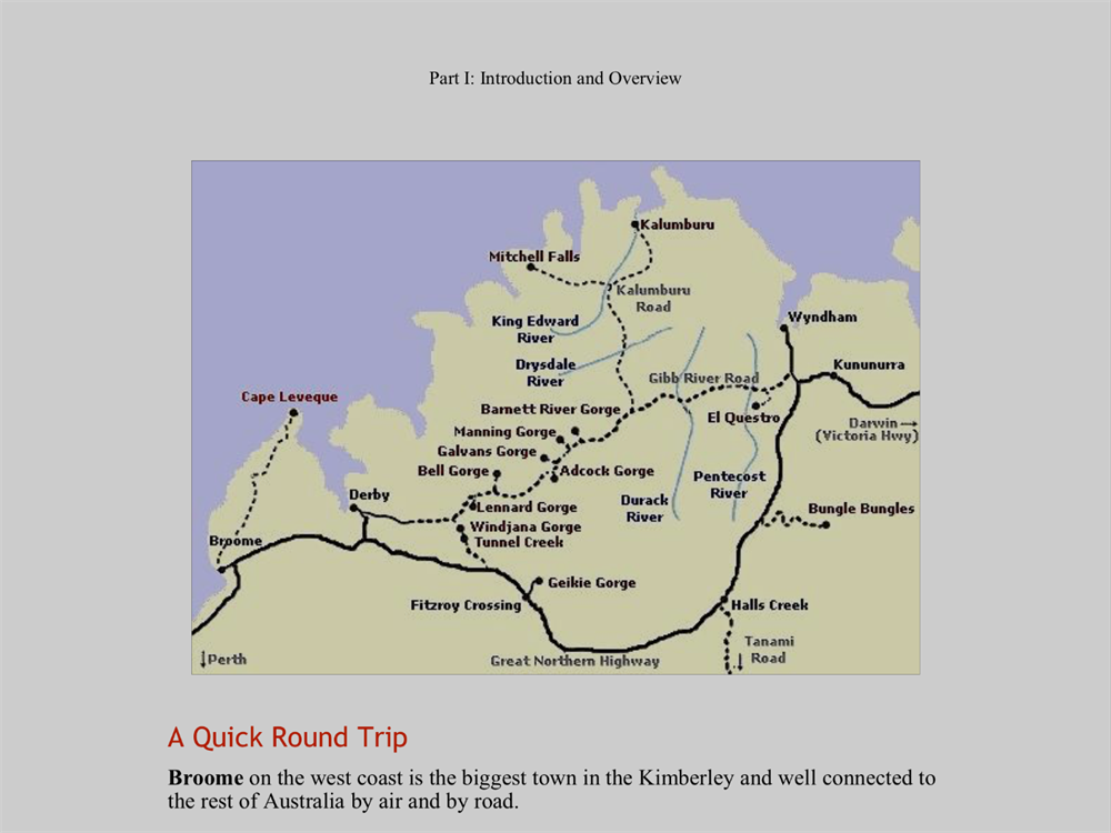 Adelaide To Kimberley Week Plus Gibb River Rd Pt - River road map