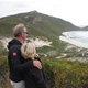 David & I overlooking Conspicuous Beach