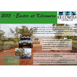 Invite to Easter in the Outback at Kilcowera Station.