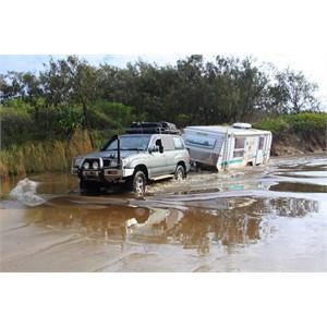 Toyota Landcruiser and Millard Monsoon - well matched pair