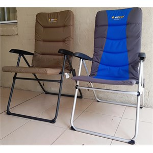 Oztrail 5 position reclining camping chairs
