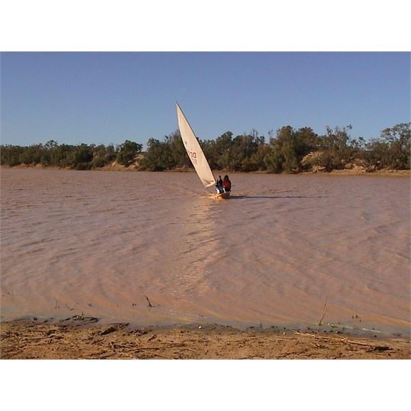 Sailing in the Simpson Desert