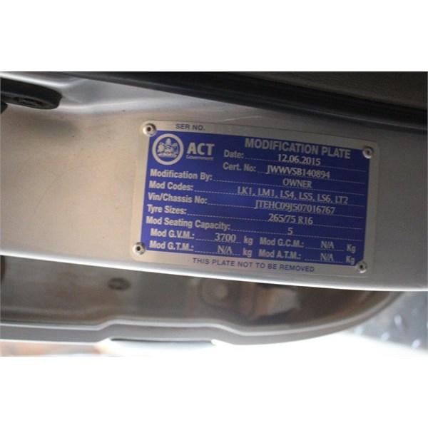 Toyota door plate
