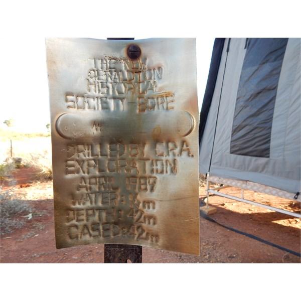 Geraldton Bore Plaque