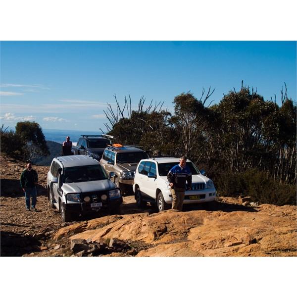 Vehicles on the summit