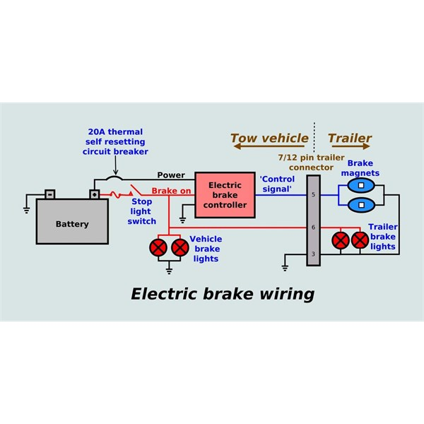 wiring electric trailer brake magnets