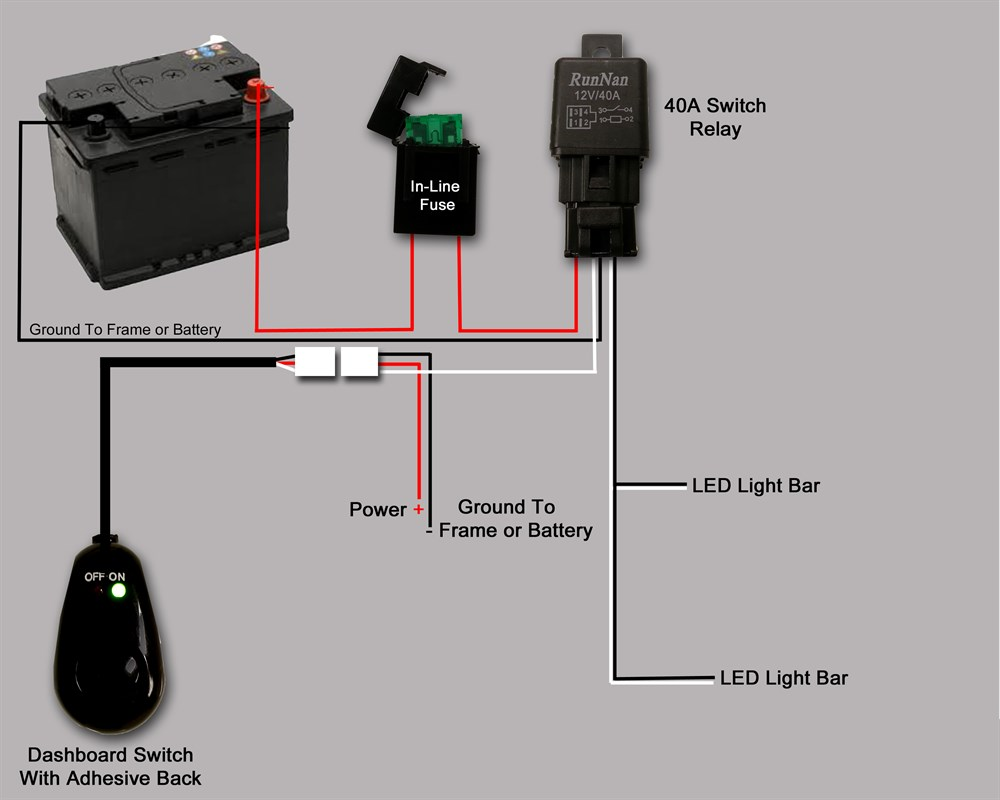 led light bar wiring wiring diagram