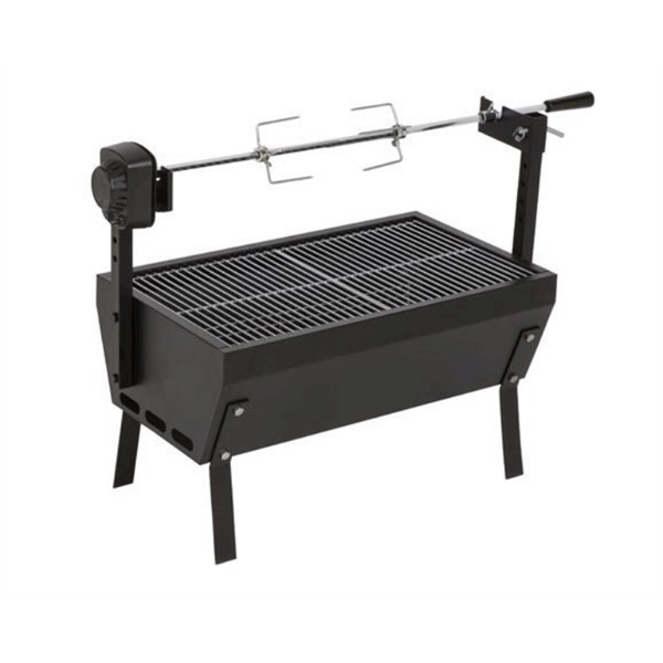 Mini rotisserie with grille on top