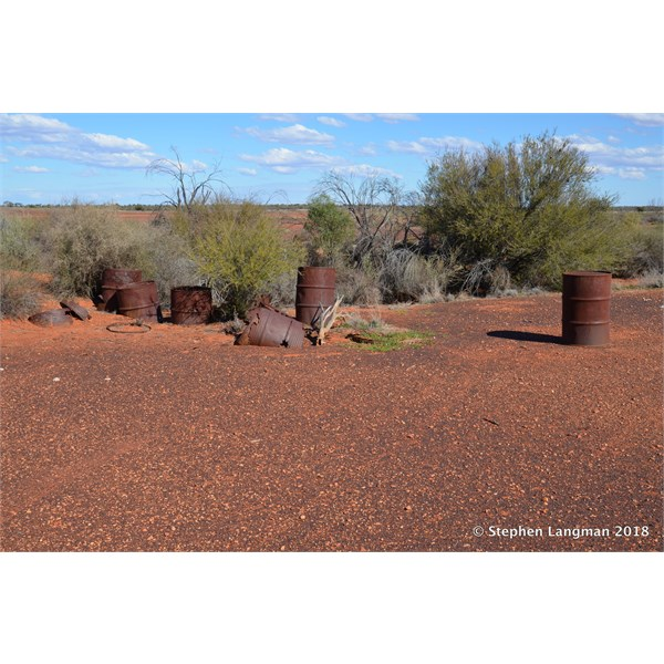There are a couple of old fuel dump areas out at Dingo Claypan