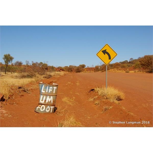 Classic Road Sign on the Mereenie Loop Road