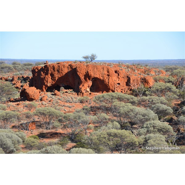 Heading south from the gully, we found this great rock formation, with something very special on top of it