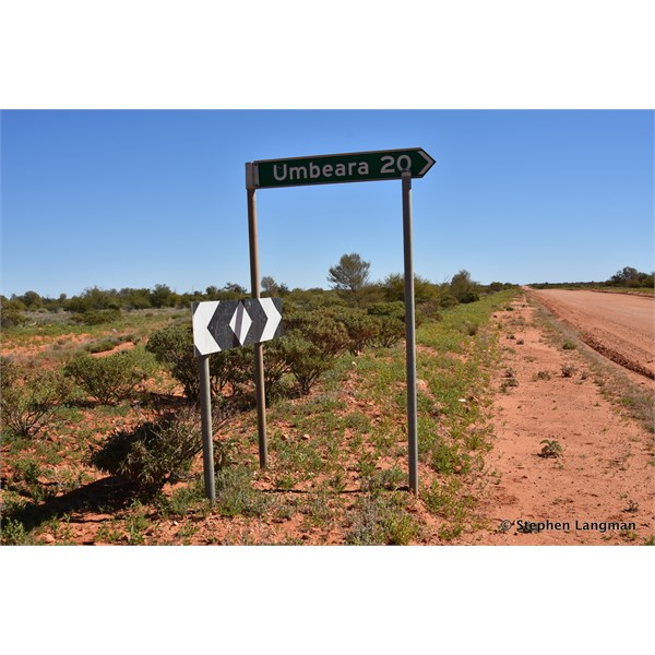 One of the Station turn offs on the main Kulgera to Finke Road