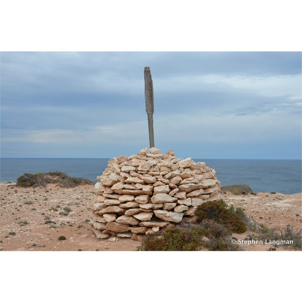 Old Survey Cairn on the far West Coast of South Australia