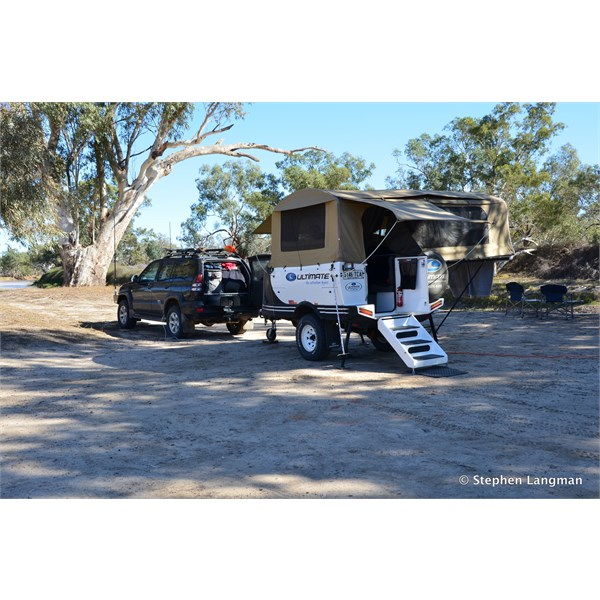 Great camping in the Common at Innamincka