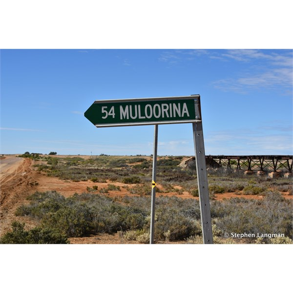 The turnoff just out of Marree, on the Oodnadatta Track