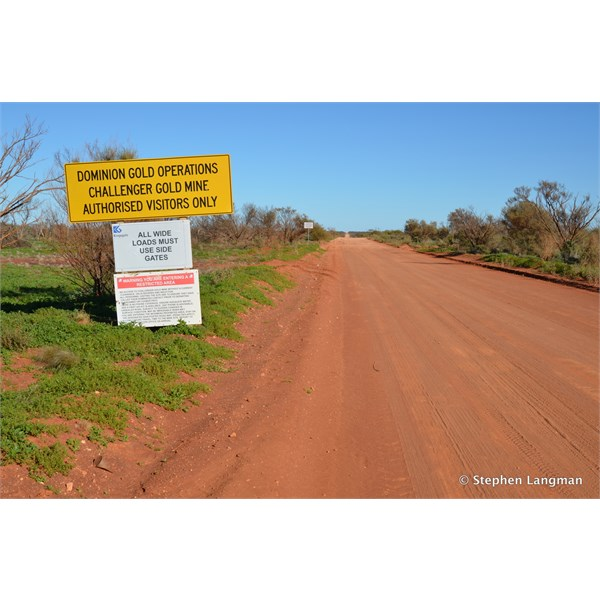 This big yellow sign may deter many people, but you must have a permit from Woomera