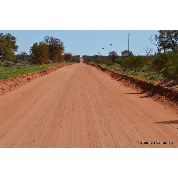 The road is very good right out to the mine site turn off, then basically goes then to a two wheel track