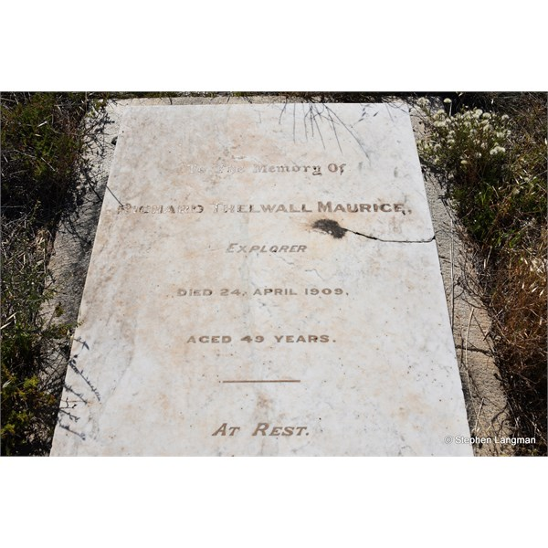 The grave of Explorer, Richard Thelwell Maurice