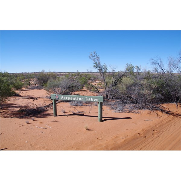 Serpentine Lakes just inside South Australia