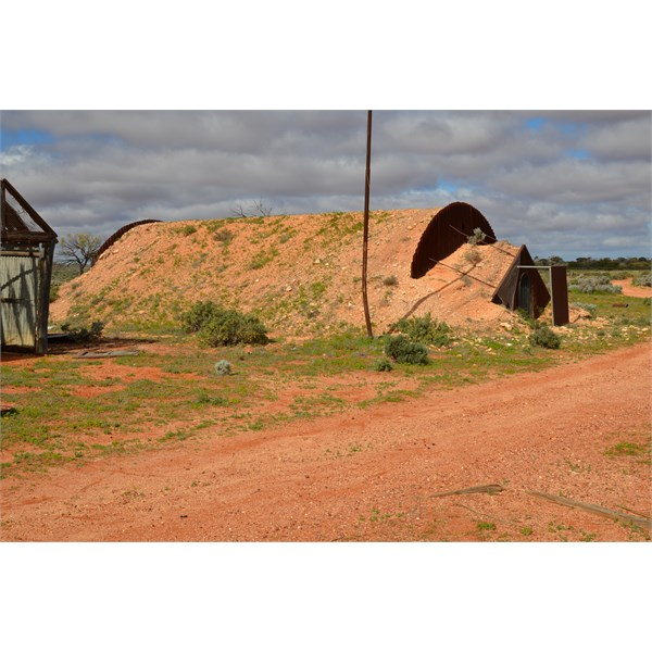 These rocket fallout shelters are found right across the flight path of the rockets