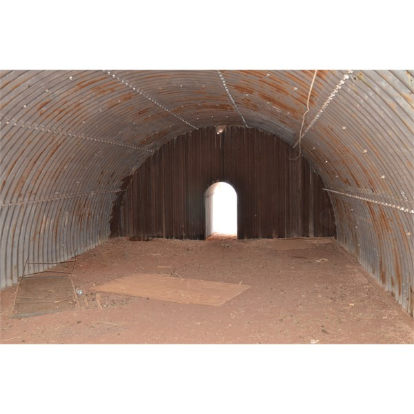 Inside one of the shelters.
