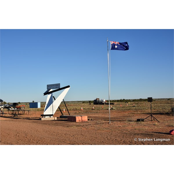 Our proud Aussie Flag flying at the site