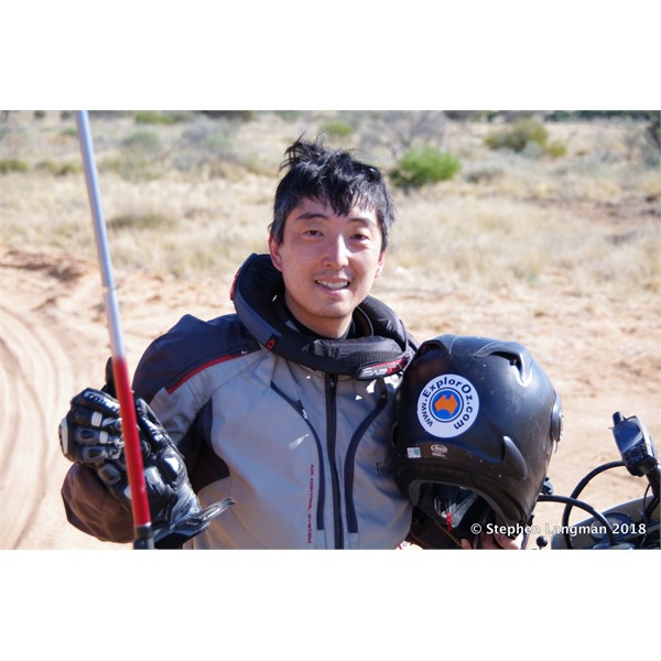 Our Japanese International EO member out in the Simpson Desert