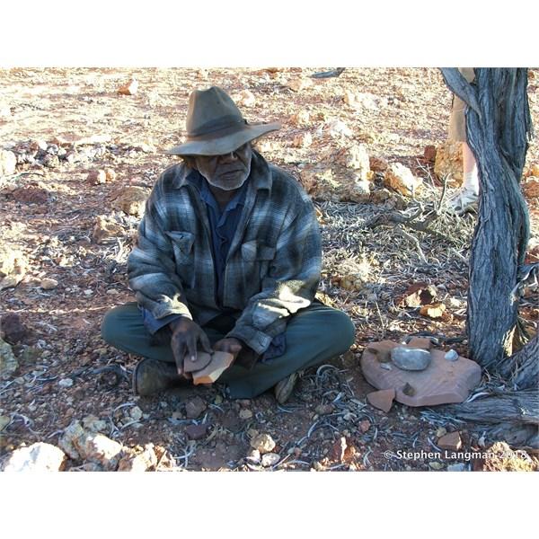 The late Lindsay showing us about Traditional Aboriginal life