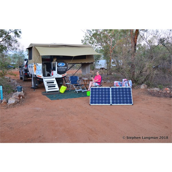 We stayed in the generator area for better solar use.