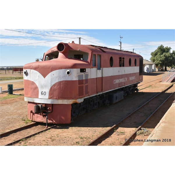 Marree is famous for the old trains on display