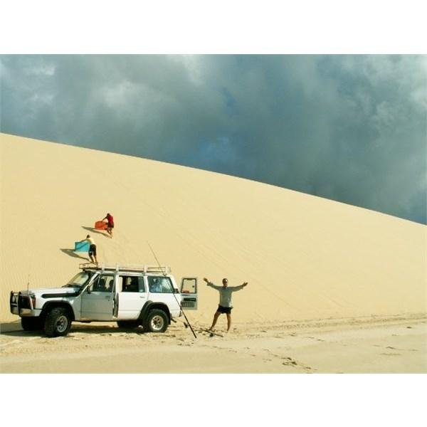 Enjoying the Dunes at Sandy Cape