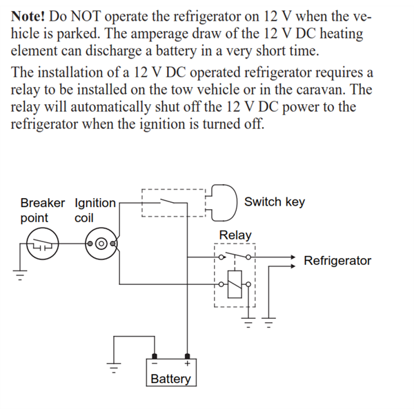 fridge wiring